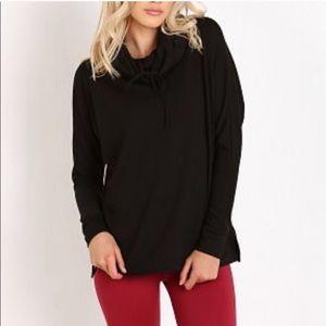 Beyond Yoga cozy fleece mock neck pullover